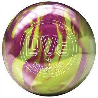 DV8 MISFIT YEL/MAGENTA BOWLING ball 15 lb NEW BALL IN BOX