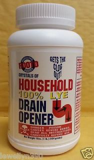 Red Devil Lye by Rooto 100% Household Lye 16oz