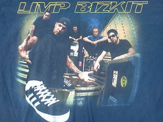 LIMP BIZKIT 2000 TOUR BLUE COTTON T SHIRT SIZE XL