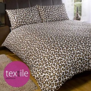 Chocolate Brown Classic Animal Print Duvet Quilt Cover Bedding Set