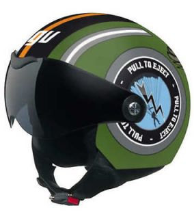 Motorcycle Scooter Open Face Helmet Green Eagle Size Small S NEW
