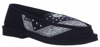 DVS Skate Shoes FRANSISCO SLIPPERS BLACK BANDANA SIZE: S (MENS 5 6.5)
