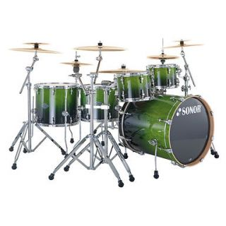 Drum Set Birch Essential Force S Drive Green Fade 6 Piece Drum Set