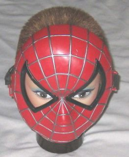Resin Red Black Spiderman Costume Mask