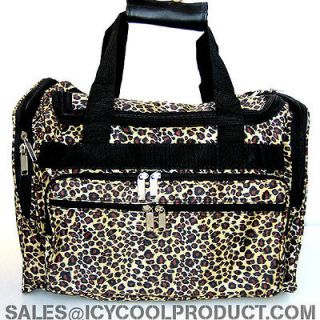 LEOPARD PRINT DUFFLE BAG LUGGAGE CARRY ON OVERNIGHT