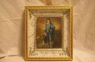 Vintage Framed Under Glass Blueboy Print 7.5 x 6.5 Picture
