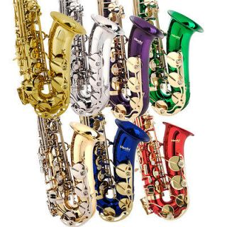 Newly listed Mendini Concert Band Alto Saxophone Sax ~Gold Silver Blue