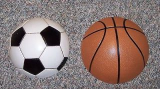 Homco Home Interiors SPORTS WALL PLAQUE SET BASKETBALL SOCCER BALL