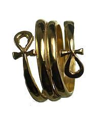 24kt Gold Plated Egyptian Eternal Life Ankh Ring Egypt