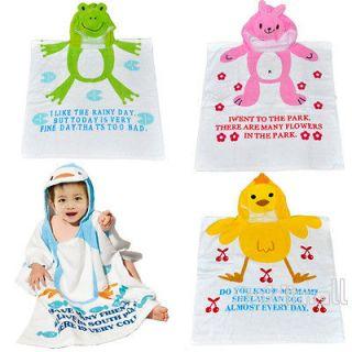 BE0D New Soft Baby Kid Child Hoodie Bathrobe bath Towel Washcloths