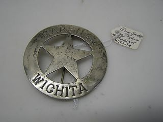Original TV WESTERN 2.5 Prop Wichita Marshal Badge (PROP H003)