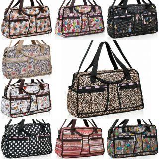 Womens Ladies BAGS Fashion Pattern Travel Bags Duffle Gym Bags Luggage