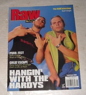 2000 WWF RAW WRESTLING MAGAZINE HARDY BOYZ STACY CARTER PERRY SATURN