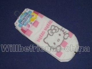 Pair Sport Ankle Short Socks Hello Kitty Design Cute
