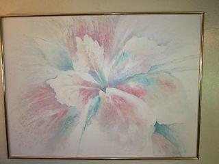 Vintage Lee Reynolds Signed Bloom Painting 1970s