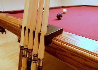 Portable 5 Pool Cue   Billiard Stick Holder   Rest Black