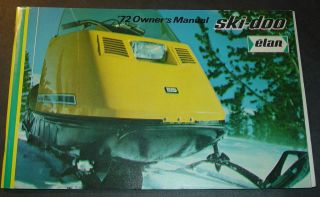 RARE 1972 SKI DOO ELAN SNOWMOBILE OWNERS MANUAL NEW & VERY NICE