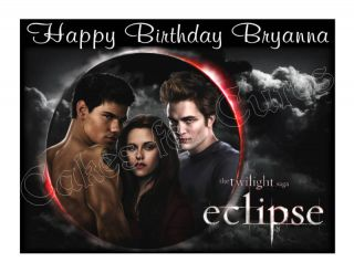 Twilight Eclipse edible cake topper frosting sheet