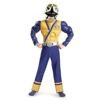 Power Rangers Gold Samurai Classic Child Costume Size 10 12 Disguise