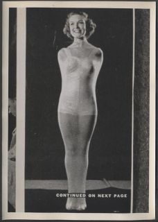 Vintage Photograph of Ad Pretty Girl in Pin Up Swimsuit Latex 775935