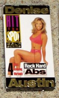 Denise Austin   Hit the Spot Gold Series Rock Hard Abs VHS Exercise