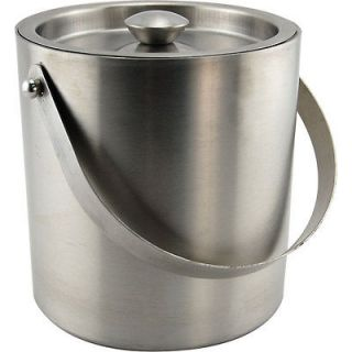 Stainless Steel Double Walled Ice Bucket   3 Quart   Home Bar, Pub