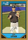2007 UD Exquisite Jesse Litsch Rookie Biography Auto 3 5