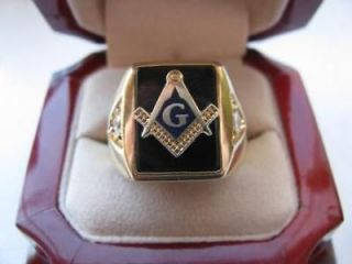 Newly listed Superb NEW Gold Mens Masons CREST Ring