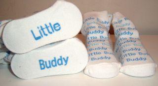 NWT MUD PIE LITTLE BUDDY WORD SOCKS 0 12 Months