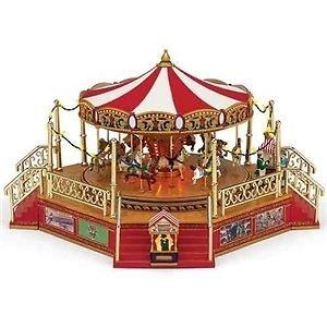 Mr. Christmas Carousel W/Boardwalk #79859 NIB