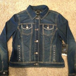 Newly listed NWT Ladies Studded Jean Jacket Size Medium