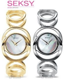Seksy Sekonda Round Analogue Watch Gold Silver 4417 4418 RRP £69.99