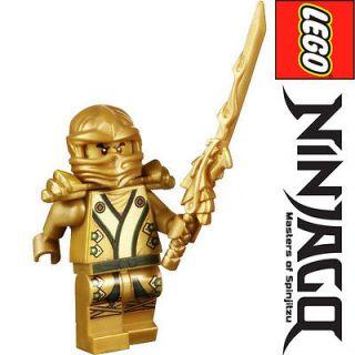 LEGO NINJAGO MINIFIGURE GOLD & GREEN KIMONO NINJA LLOYD DRAGON SWORD