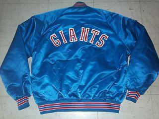 VTG JACKET CHALK LINE NEW YORK GIANTS SIZE L NFL BLUE MANNING PRO GAME