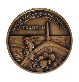 TURKEY 2011, EUROPEAN YOUTH OLYMPIC FESTIVAL COMMEMORATIVE BRONZE COIN