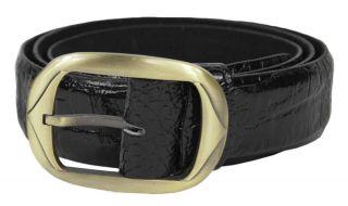 Mens Real Leather Black Snake Skin Pattern Belt   To Fit 32   46 UK