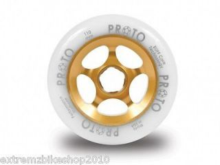 PROTO SLIDER Wheels   110mm   PRO SCOOTER WHEEL   White On GOLD