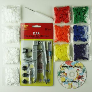 KAM Snaps Starter Pack Pliers/Awl/10 Sets for Cloth Diapers/Bibs/G ift