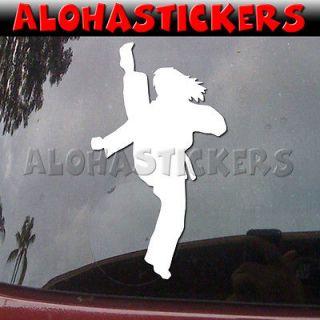 KARATE GIRL KICKING Tae Kwon Do MMA Kenpo Car Vinyl Decal Window