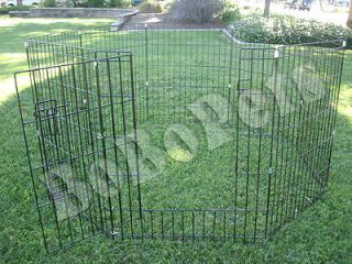 35Dia. Pet Dog Kennel Dog Fence Puppy Playpen Exercise Pen Soft Crate