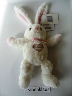NWT Carters Sweet Daisy Bunny Rabbit Plush Toy Rattle Princess Heart