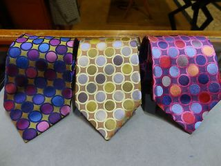 BIG KNOT SILK TIE GOLD GRAY OR PINK BLUE OR BLUE PINK GOLD POLKA DOT