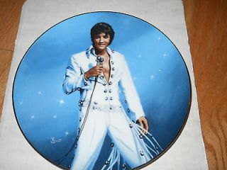 ELVIS collector plate King of Las Vegas SN 5466B 1991 with COA