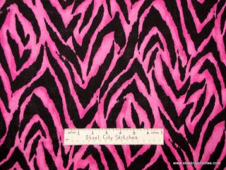 Fashion Skin Pink Black Tiger Skin Print Diva Girl Cotton Novelty