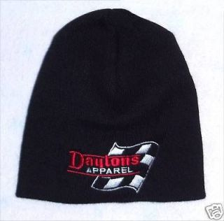 DAYTON WIRE WHEELS DAYTONS FLAG BLK BEANIE SKI HAT NEW