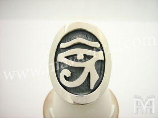 97ee1d2d313 Sterling Silver Eye of Horus Ring Ra Egyptian Egypt Udjat Wedjat ...