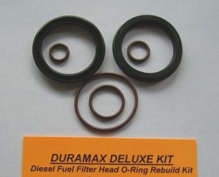 Duramax Deluxe Fuel Filter Head Rebuild Kit Seals and Viton O Rings