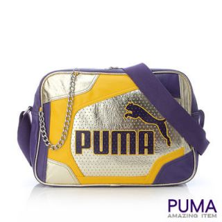 BN PUMA Break Soulder Messenger School Bag Gold/Purple