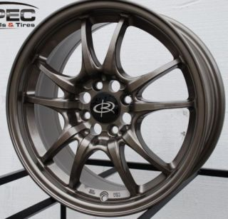 ROTA CIRCUIT 10 15X6.5 4X100 ET45 BRONZE WHEELS RIMS