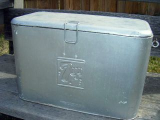 1940s 7up cooler + 7up adverting bottle opener fresh up with 7up